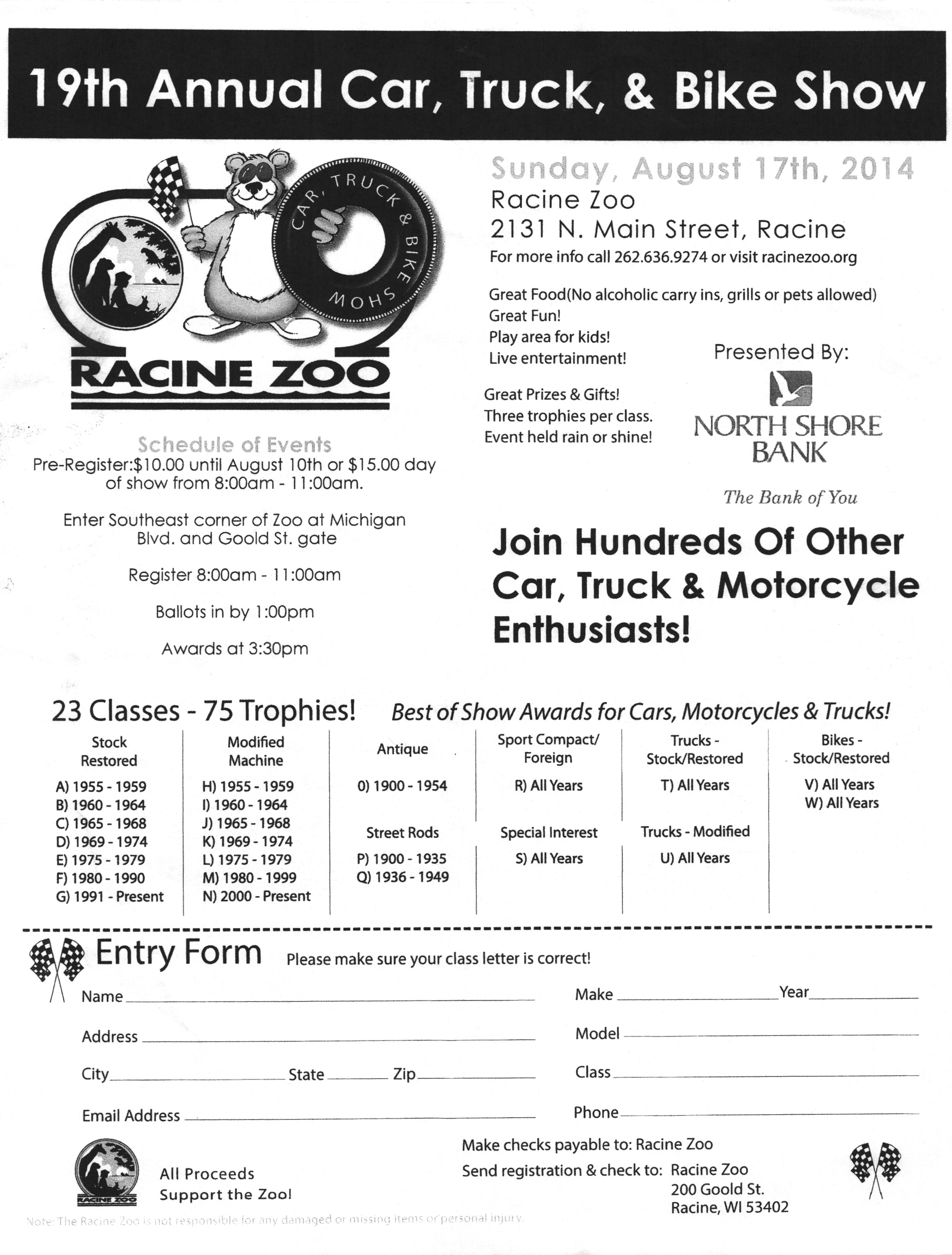 Racine Zoo Car Truck And Bike Show